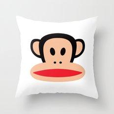 Cute Monkey (Julius Monkey) Throw Pillow