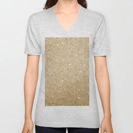 Modern abstract elegant chic gold glitter Unisex V-Neck