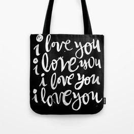 i love you | black Tote Bag