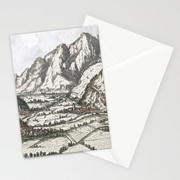 Valley scene of the Tyrol No. 2 Stationery Cards