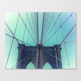 BROOKLYN BRIDGE - VINTAGE - FADED Canvas Print