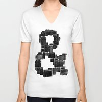 ampersand V-neck T-shirts featuring Ampersand by Jorge Garza