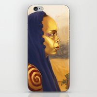 erykah badu iPhone & iPod Skins featuring Erykah Badu  by Odera Igbokwe