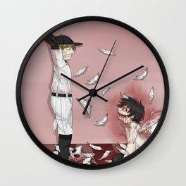 """OFF """"batter and Zacherie, final battle"""" Wall Clock"""