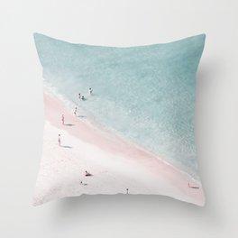 beach family love Throw Pillow