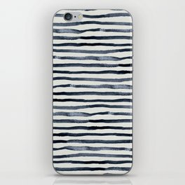 Simply Shibori Stripes Indigo Blue on Lunar Gray iPhone Skin