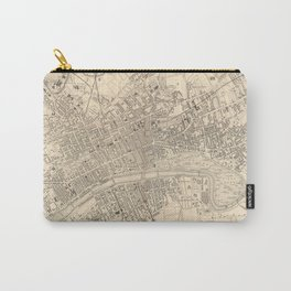 Vintage Map of Glasgow Scotland (1851) Carry-All Pouch