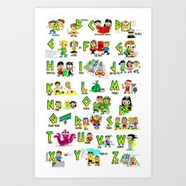 Hawaii Letters A thru Z Art Print