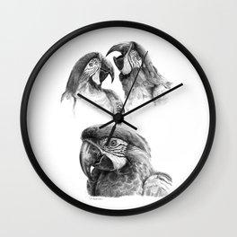 Macaw study SK0114 Wall Clock