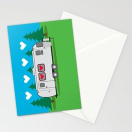 Love is in the Airstream Stationery Cards