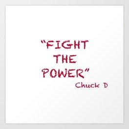 Fight the Power #WordArt #hiphop Art Print