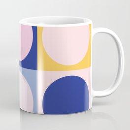 Colorful Circles in Squares Coffee Mug