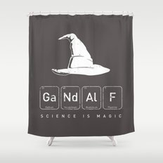 Gandalf's Magical Science Shower Curtain