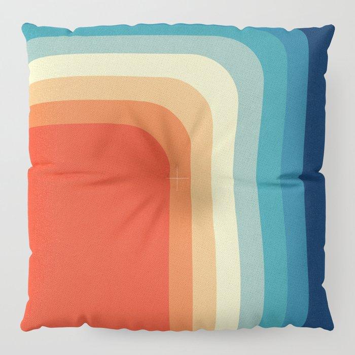 Retro 70s Color Palette III Floor Pillow