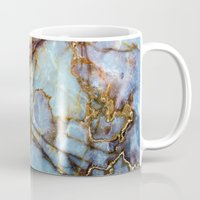 beach Mugs featuring Marble by Patterns and Textures