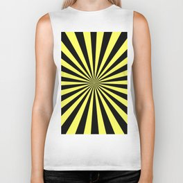 Starburst (Black & Yellow Pattern) Biker Tank