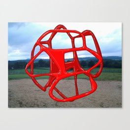 Red Sphere - Sculpture Implants Series Canvas Print
