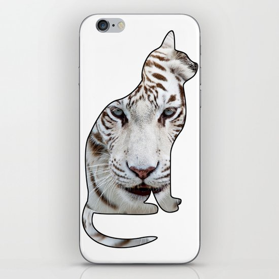 WHITE CATS iPhone & iPod Skin