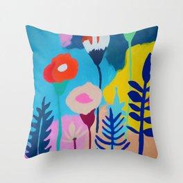 Florid Landscape Throw Pillow