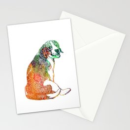 Watercolor Beagle Stationery Cards