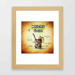Whiskey Sour Framed Art Print