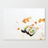 sushi Canvas Prints featuring Sushi by Tara de la Garza