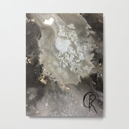 Winter Abstract Painting, Mixed Media On Stretched Canvas, Abstract Art Contemporary Artist Metal Print