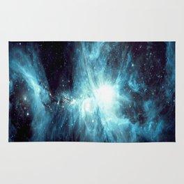 Orion Nebula Teal Rug