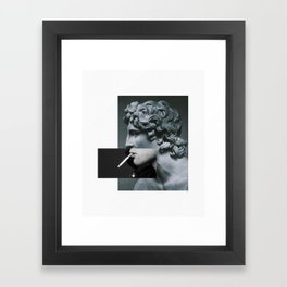 A classic cigarette. Framed Art Print