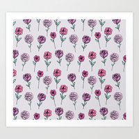 peonies Art Prints featuring Peonies by Abby Galloway