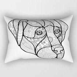 Labrador Retriever Mandala Rectangular Pillow