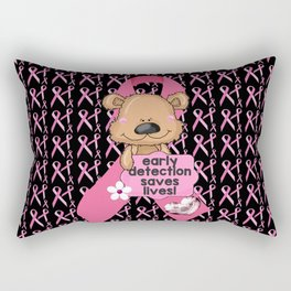 Early Detection Saves Lives Breast Cancer Rectangular Pillow