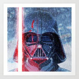 Darth Vader Storm Art Print