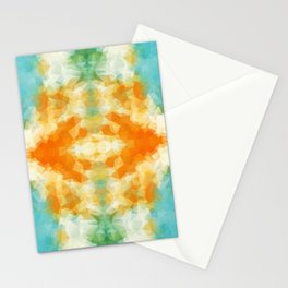 """""""Poncho mood"""" triangles design Stationery Cards"""