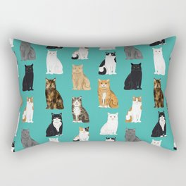 Cat lover must have gifts for cat ladies cat men kitty cats Rectangular Pillow