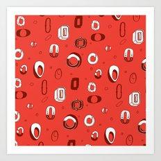 Letter Patterns, Part O Art Print