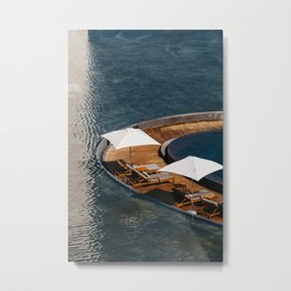 Embraced by the Blue Sea - Mexico Wanderlust Metal Print