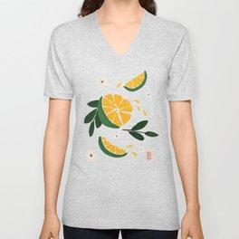 Cam Sahn - Vietnamese Citrus // Blue Unisex V-Neck