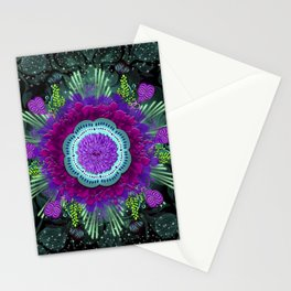 Space Magic Blue Stationery Cards