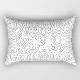 AB All Eyez in Black & White Rectangular Pillow