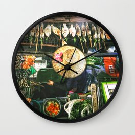 Bangkok Street Food Wall Clock
