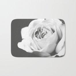 Light Grey Rose #1 #floral #art #society6 Bath Mat