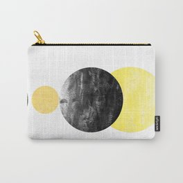 Geller - modern minimal abstract painting white and black gold foil glitter sparkle hipster trendy  Carry-All Pouch