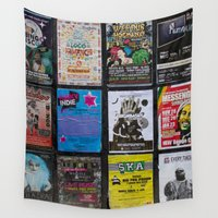 music notes Wall Tapestries featuring Poster Notes by Bestree Art Designs