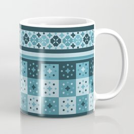 Bohemian Blue Tiles Pachwork Coffee Mug