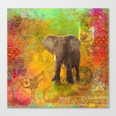 The Elephant in my Dream Canvas Print