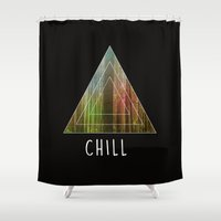 chill Shower Curtains featuring Chill  by Corentin Mas
