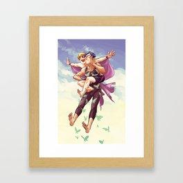 flying butts Framed Art Print