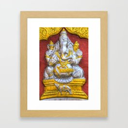 Indian Temple Elephant Framed Art Print