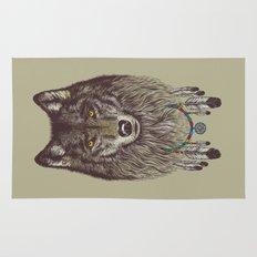 Wind Catcher Wolf Rug
